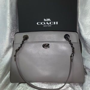 Coach Carryall Large Grey Leather Tote